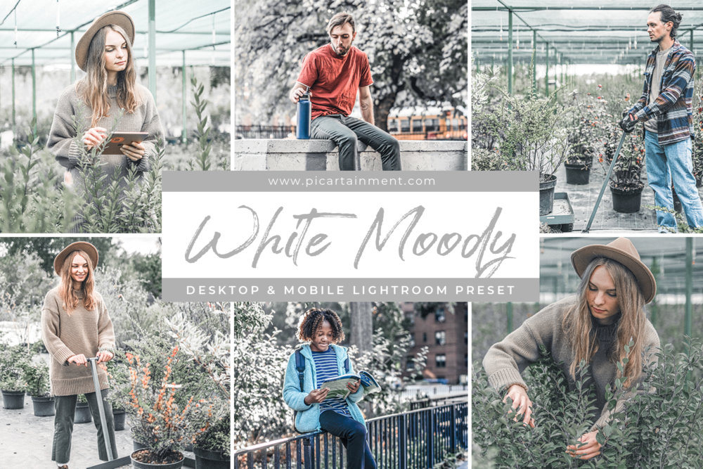 White Moody Lightroom Presets
